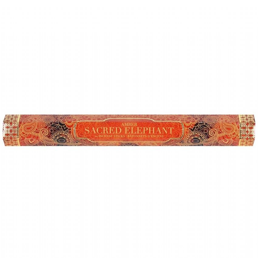 Sacred Elephant Amber Scented Indian Incense Sticks Sifcon